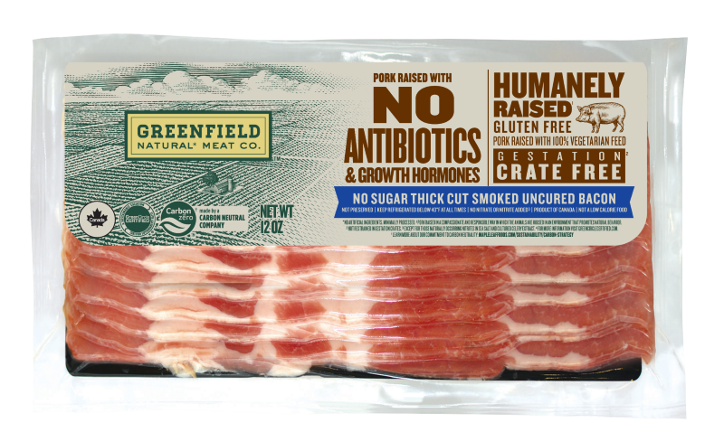 No sugar thick cut smoked uncured bacon 12oz