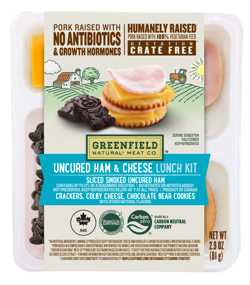 Greenfield Uncured Ham & Cheese Lunch Kit 2.9oz
