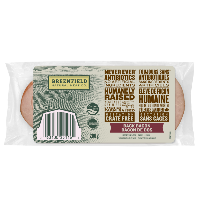 Greenfield Natural Meat Co Back Bacon