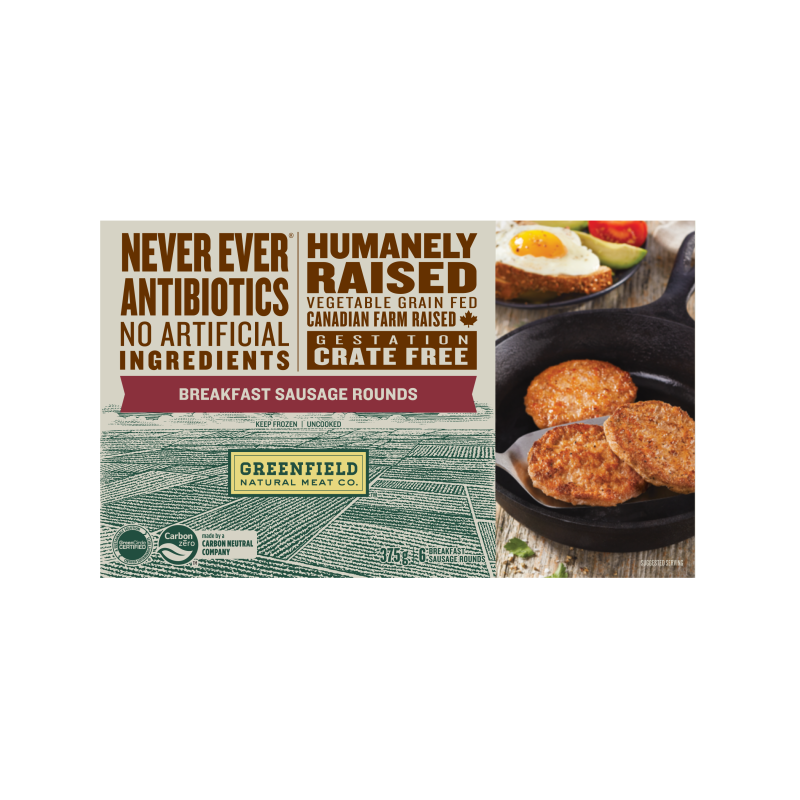Greenfield Natural Meat Co Breakfast Sausage Rounds