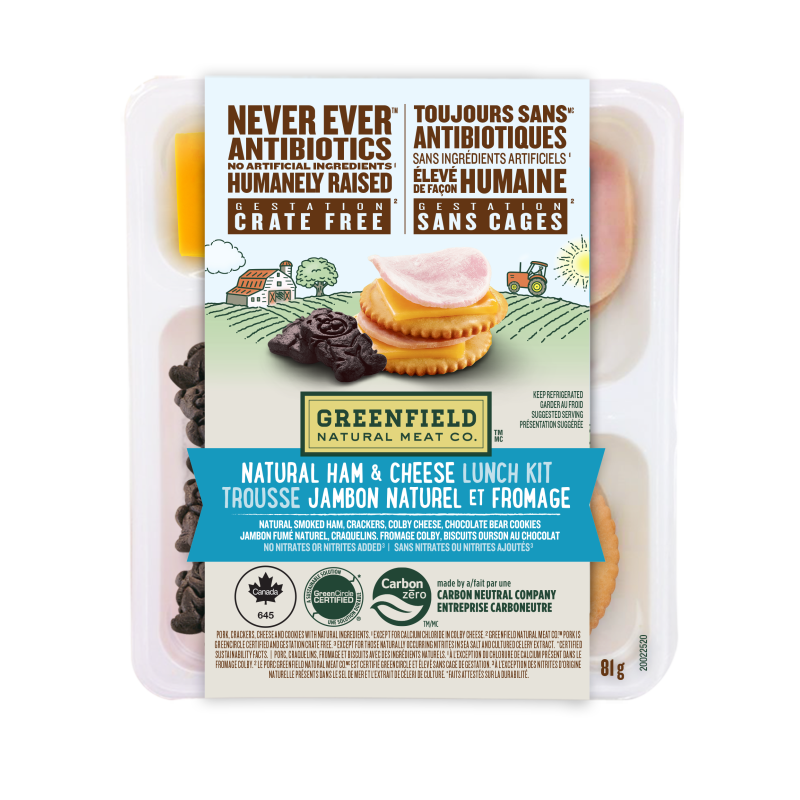 Greenfield Natural Meat Co Natural Ham & Cheese Lunch Kit