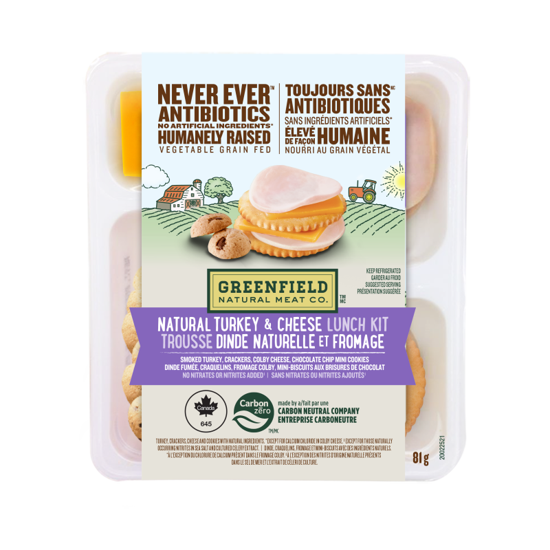 Greenfield Natural Meat Co Natural Turkey & Cheese Lunch Kit